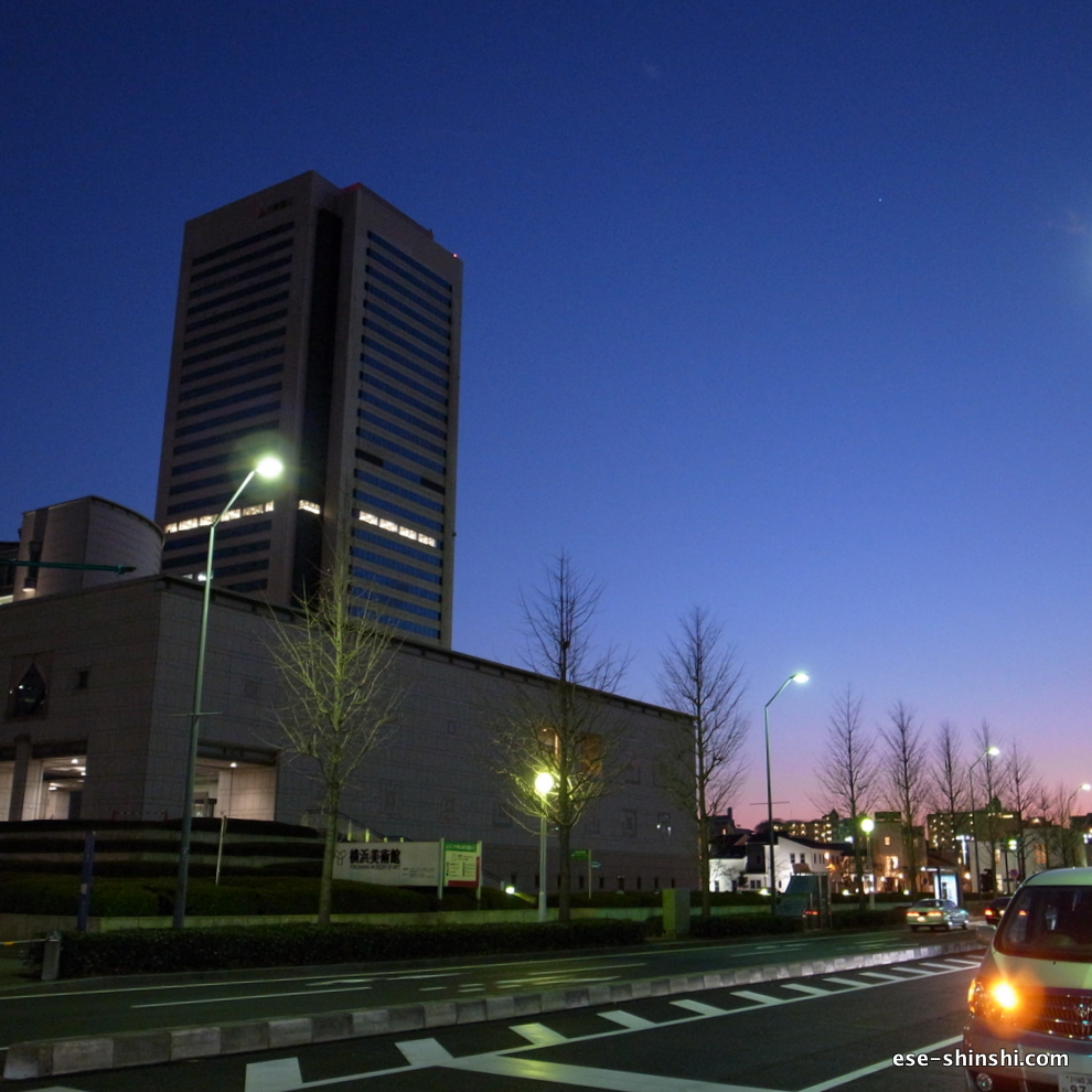 MM21の風景-横浜美術館前